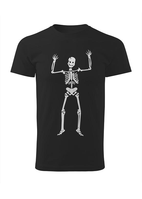 Černé tričko Kosťa Strašák