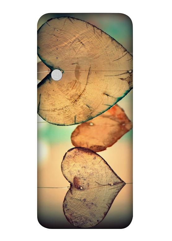 PowerBanka s potiskem Dřevěná srdce