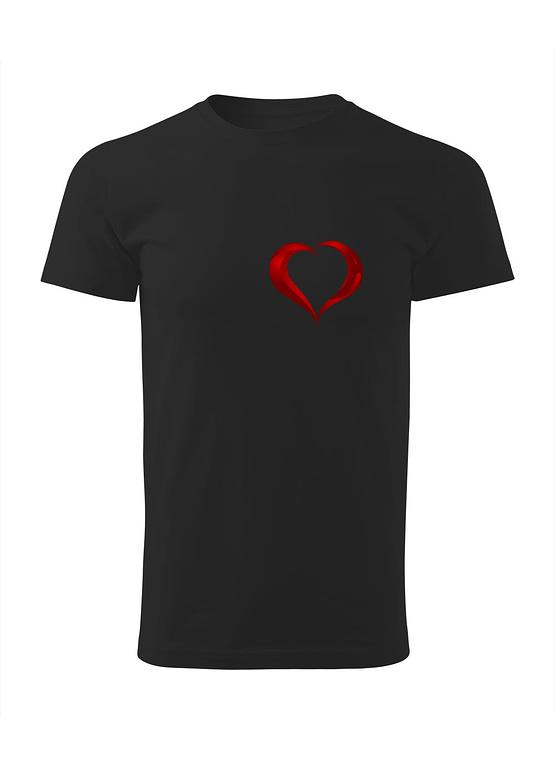Černé tričko s potiskem srdce