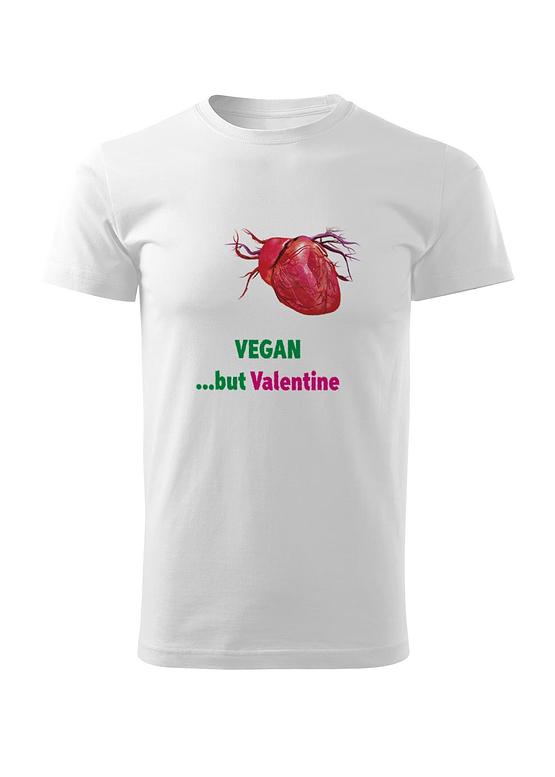 Bílé tričko s potiskem Vegan