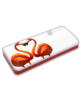 PowerBanka s potiskem zamilovaní plameňáci