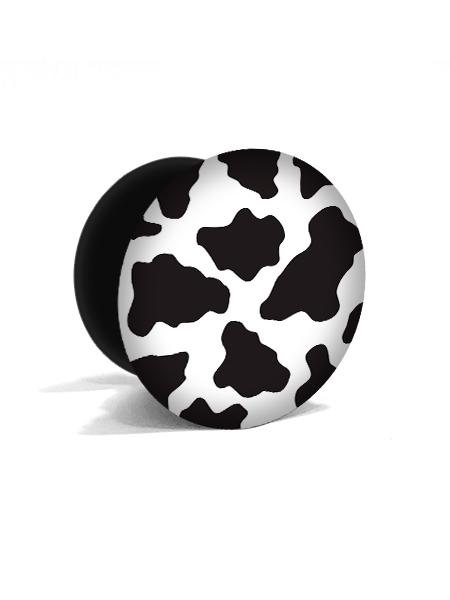 bílý popsocket s potiskem kraví vzor