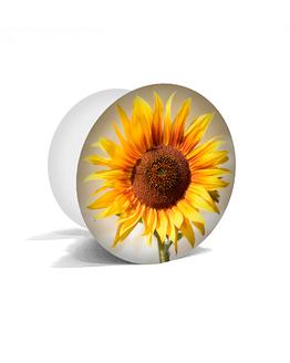 bílý popsocket s potiskem slunečnice