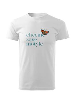 Bílé tričko s motivem Motýle