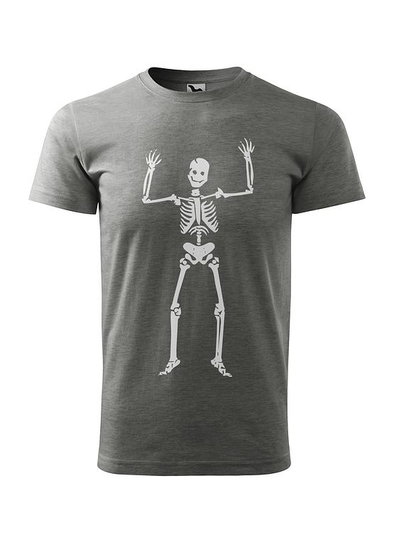 Šedé tričko Kosťa Strašák