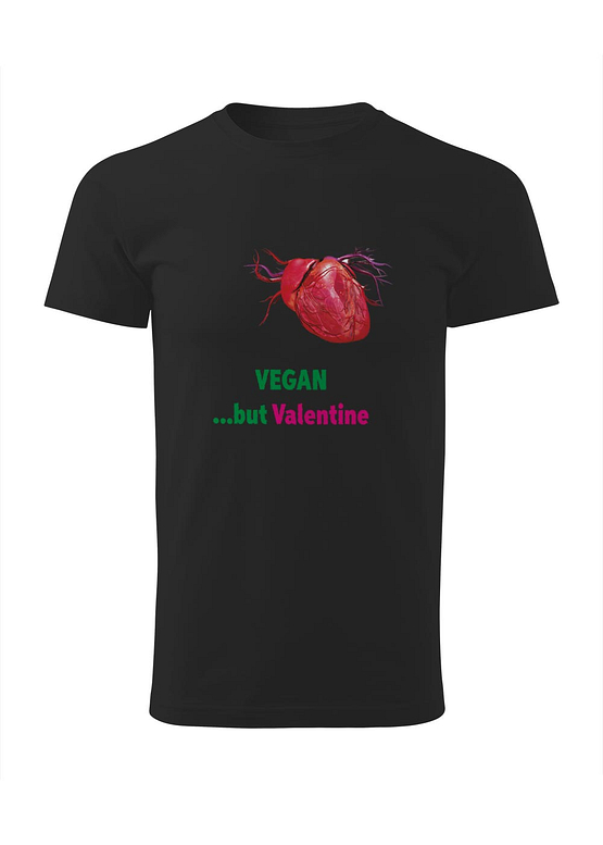 Černé tričko s potiskem Vegan