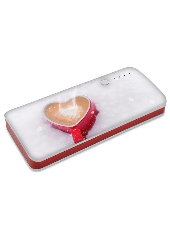 PowerBanka s potiskem šálek kávy